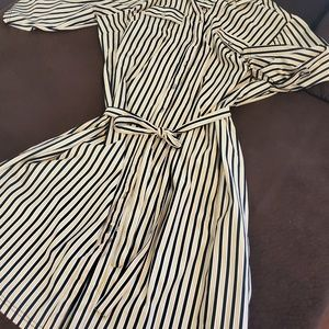 Mll Gabrielle Button Up Casual Stripped Dress